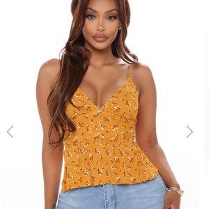 NWOT Fashion Nova Yellow Tank Top